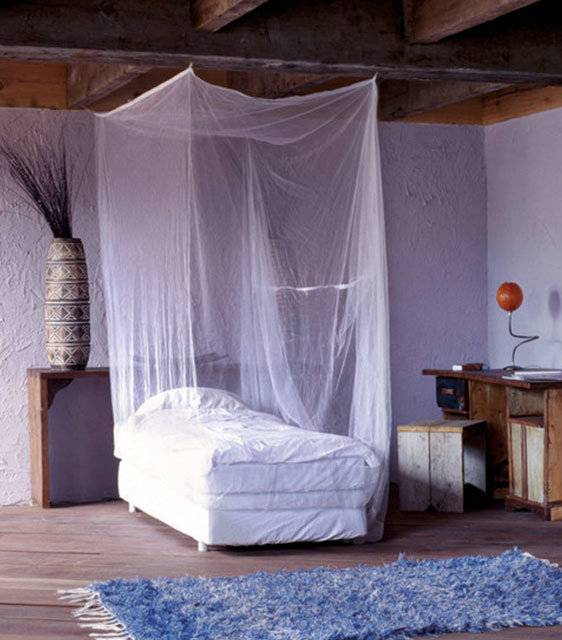 safe and peaceful sleeping with the care plus mosquito net single box