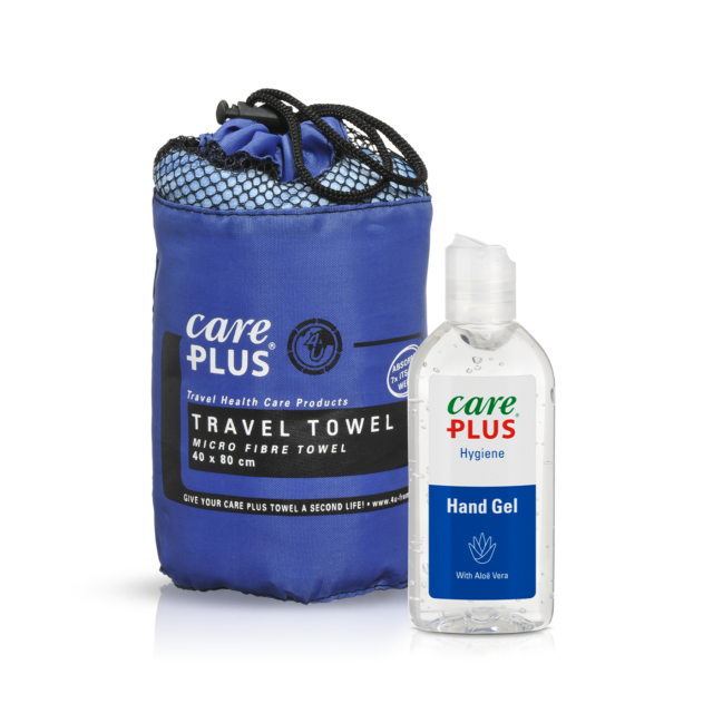 Personal hygiene with Care Plus products while travelling