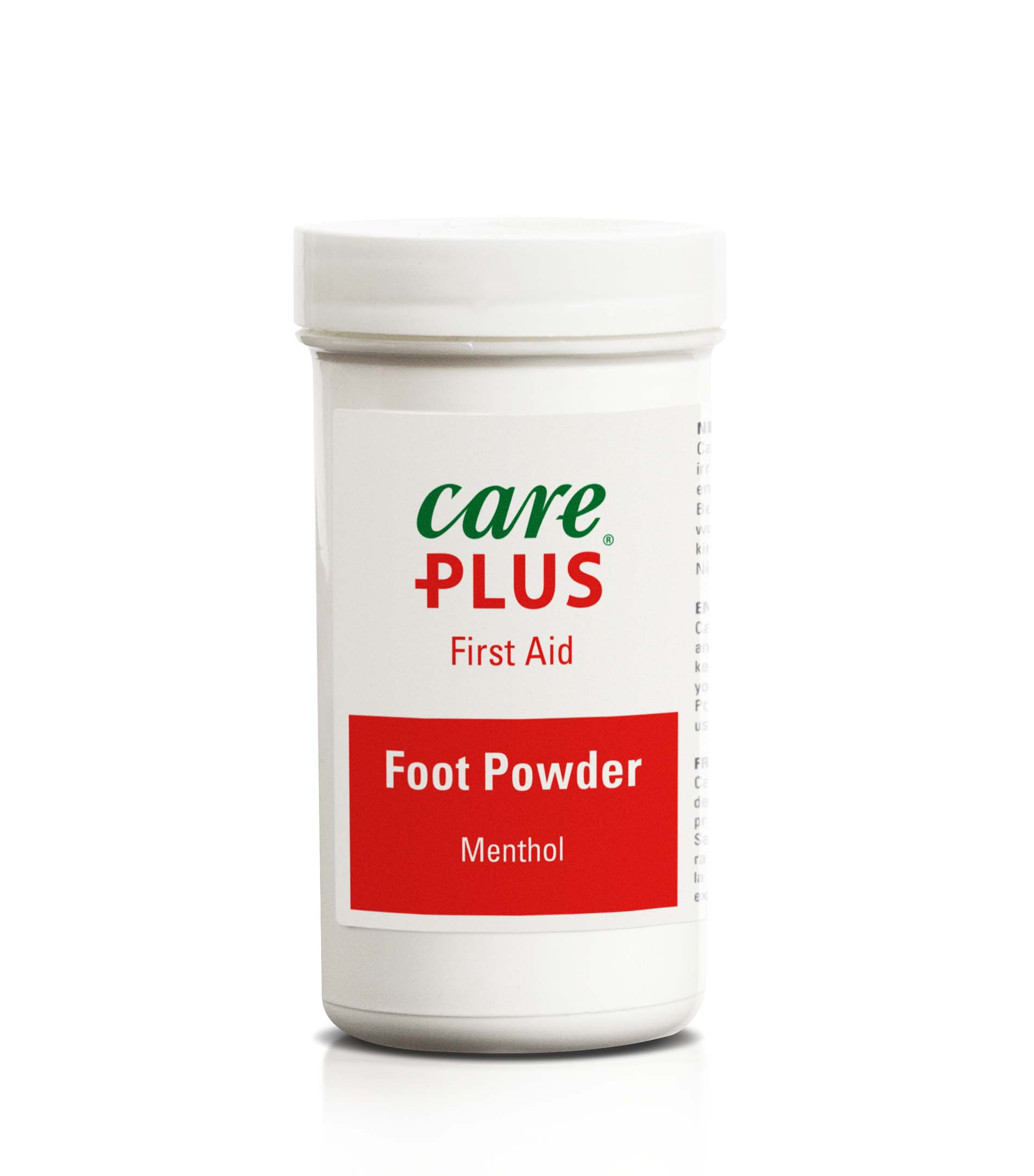 Foot Powder absorbs moisture, dries the feet, and helps prevent blisters